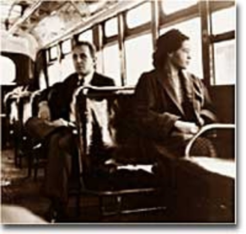 1956: 21st December. After more than a year of boycotting the buses and a legal fight, the Montgomery buses desegregate