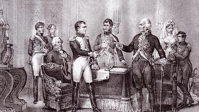 Fernando VII sale de España y llega a Bayona