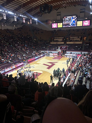 Went to my first Virginia Tech Basketball game!