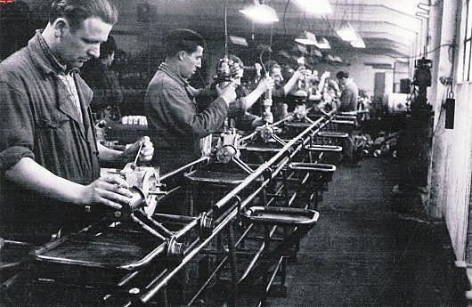 Linea de produccion en cadena