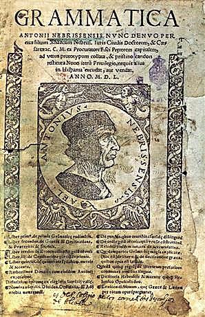 La publicación de la primera gramática en una lengua vulgar europea
