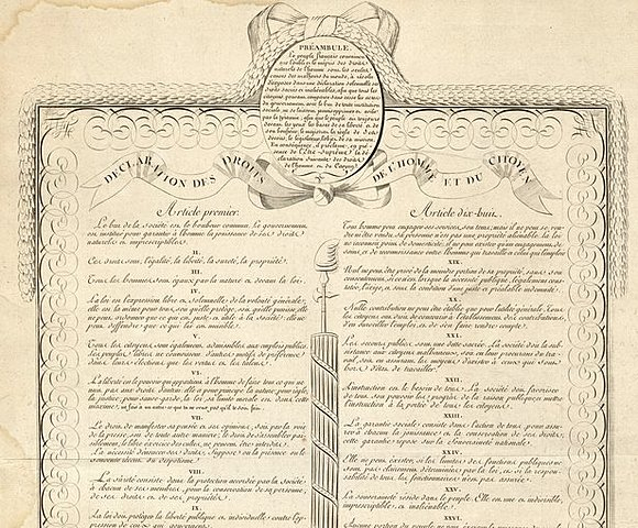 Declaration of the Rights of Man and Citizens Adopted