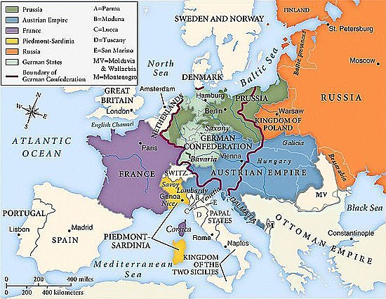 Los Estados pontificios se anexan al imperio