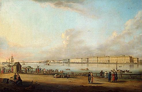 «Вид на Зимний дворец со стороны Васильевского острова»