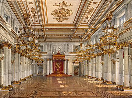 Восстановление парадных залов Зимнего дворца В.П. Стасовым после пожара 1837 г.