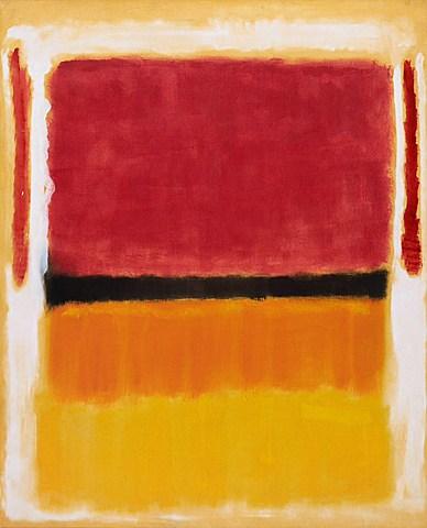 Nº 43 M. ROTHKO Sin título (violeta, negro, naranja, amarillo, blanco y rojo