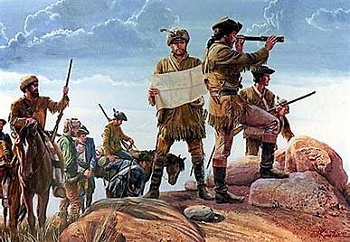 Beginning of the expedition of Lewis and Clark