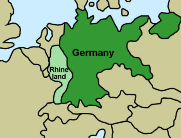 Germans march into the Rhineland