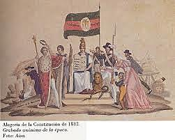 Fernando VII jura la Constitución de 1812