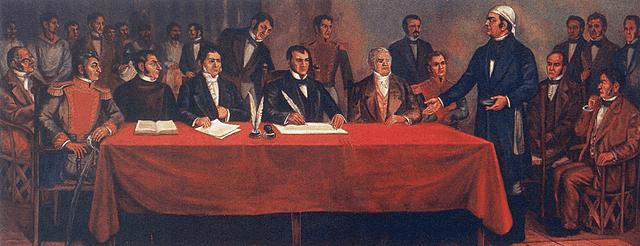 El Congreso da a conocer la Constitución de Apatzingán