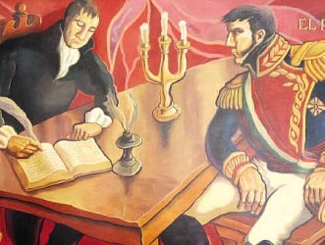 Juan O' Donojú firma el tratado de Córdoba 1821 - 1822