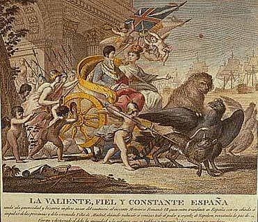 Fernando VII entra Triunfante en madrid