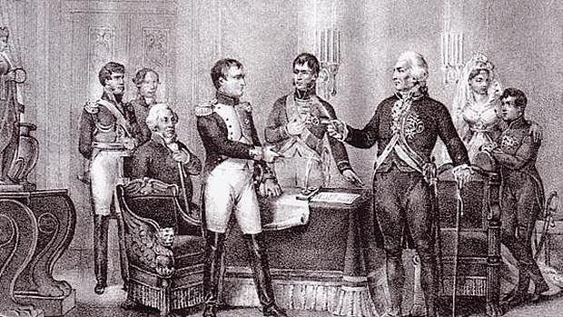 En bayona Fernando VII abdica la corona en favor De carlos IV