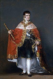 Fernando VII e regresa la corona a su padre