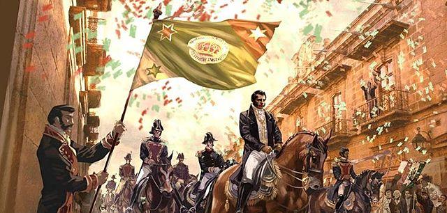 El ejército Trigarante entra en Ciudad de México