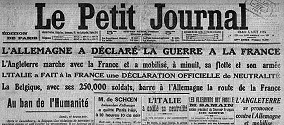 L'Allemagne déclare la guerre à la France