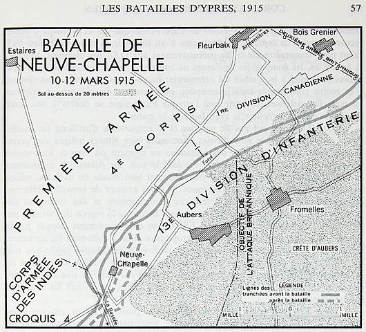 La bataille de Neuve-Chapelle