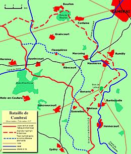 La bataille de Cambrai