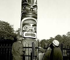 Royal Totem Presented to Queen Mother