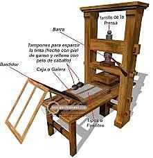 La invención de la imprenta de Gutemberg