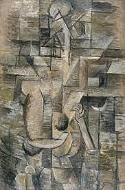 Mujer con mandolina - Braque