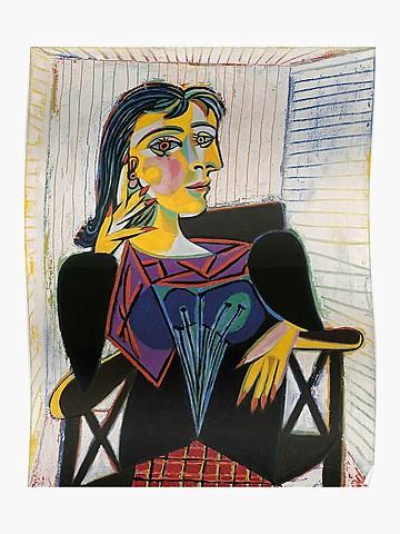 El retrato de Dora Maar- Picasso