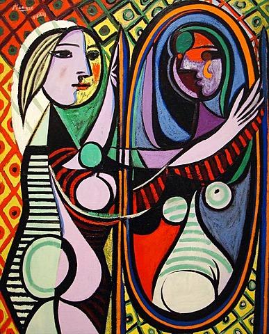 Niña frente al espejo -Picasso