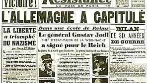 la capitulation de l'Allemagne (la guerre en Europe est finie),