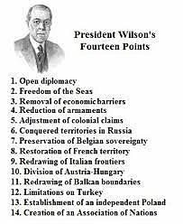 les 14 points de Woodrow Wilson
