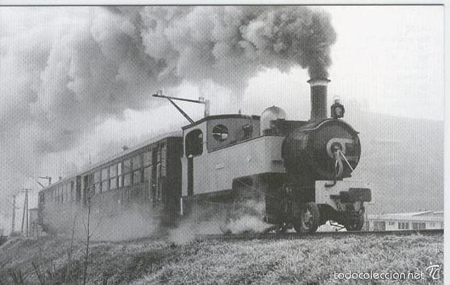 Primera locomotora de vapor.