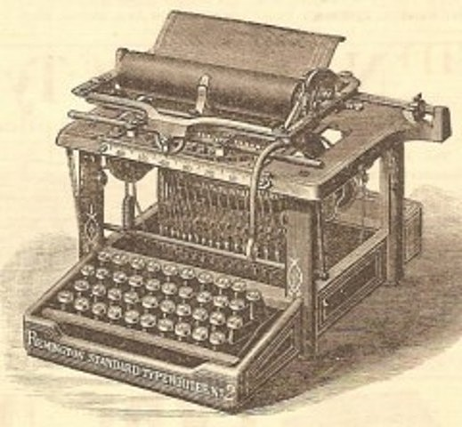 Se inventa la primer máquina de escribir