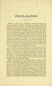 Nullification Proclamation