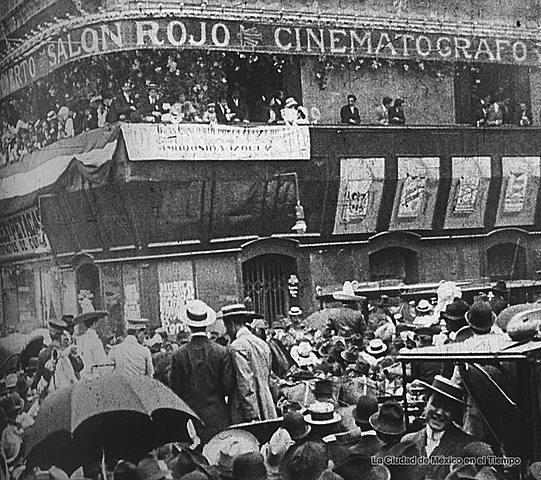 Primera función pública de cine en México