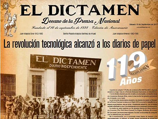 El Dictamen el periodico más viejo de México