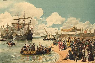 Vasco de Gama llega a la India a través de África.