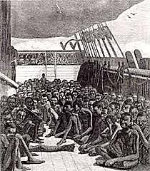 Primer transporte de esclavos.