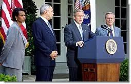 Bush calls for a New Palestinian Leadership