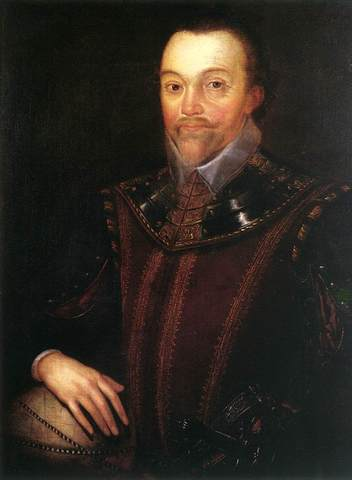 English admiral, Sir Francis Drake,rounds Cape on his world voyage