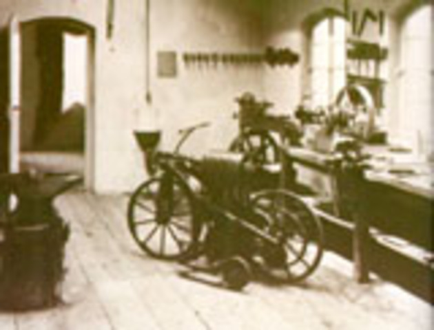 the first motorcycle.