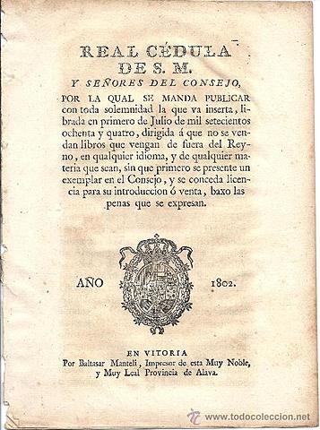 La Real Cédula de 1802