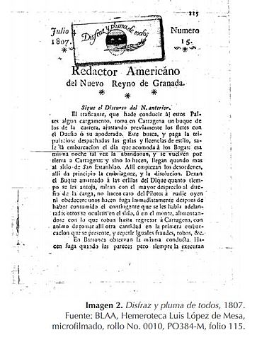 La prensa en la Nueva Granada