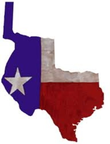1845 Texas Admitted to the Union