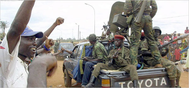 Military seizes power of the country/La Militaire saisit la puissance du le pays