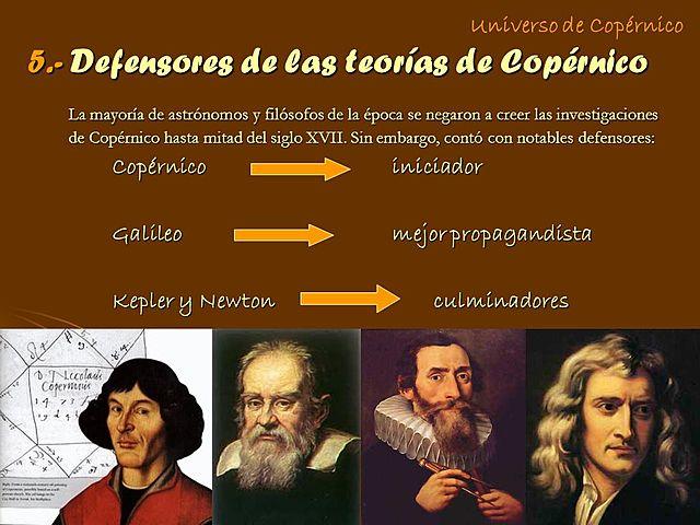 Los  avances de Copernico y Galileo Galilei