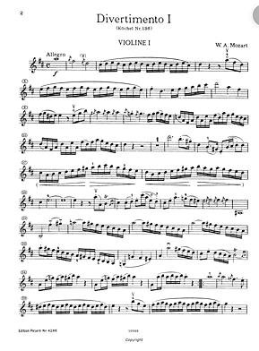 Divertimentos KV 136 a KV 138 de Mozart