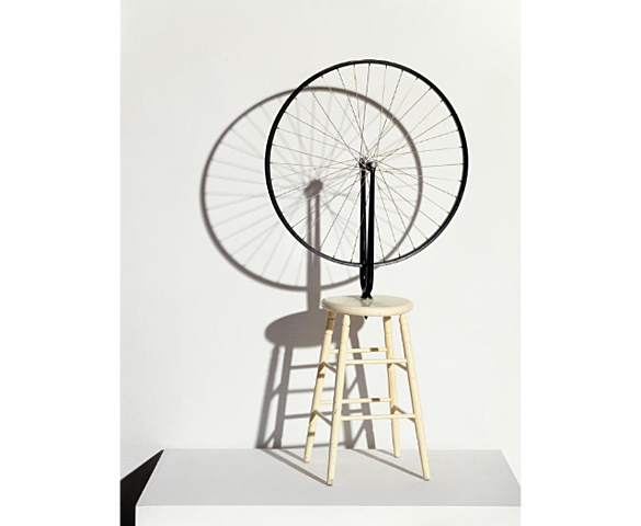 """De Campos - Détournement du réel / Marcel Duchamp : """"Roue de byciclette"""" (1913 / 1964)"""