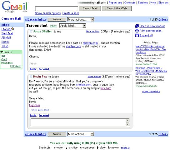Google sale a bolsa y Gmail