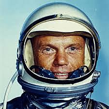 First man to orbit Earth by USA
