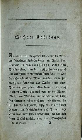 Г. фон Клейст. Микаэль Кольхаас.
