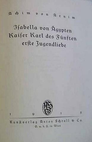 А. фон Арним. Изабелла Египетская.